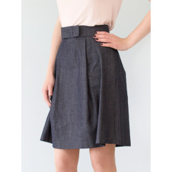 Organic raw blue denim skirt Electra