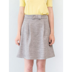 Electra skirt in organic sweater knit marl grey