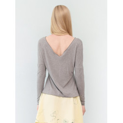 Heather marl grey backless Athena top
