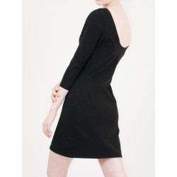 Lula organic black sheath dress