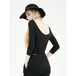 Lula organic black open-back top
