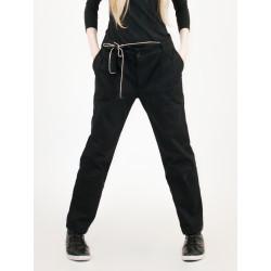 Pantalon chino noir en gabardine bio Ariel