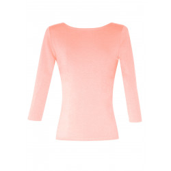 Lula organic pink open-back top