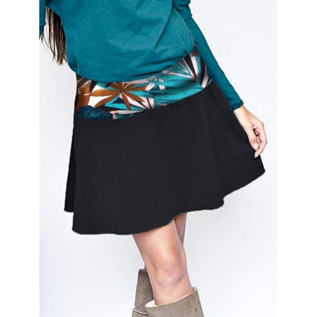 Athena Leaf print short A skirt