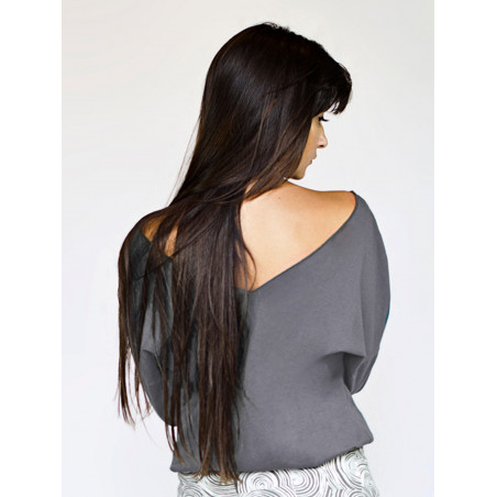 Organic grey backless Athena top