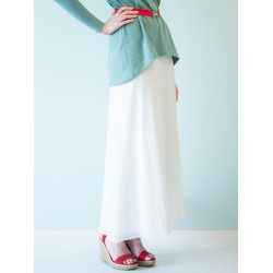 Organic white Boheme long skirt