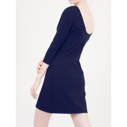 Lula organic navy sheath dress