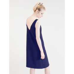 Navy pinafore sleeveless Maria dress