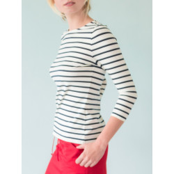 Uhaïna organic navy striped top