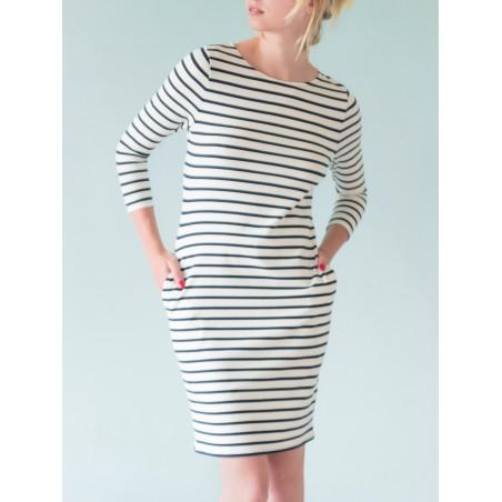 Uhaïna organic navy striped dress
